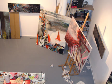 View from loft in studio, 2007