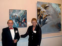 Gastón & Mimi Daumy at Latin Views Opening